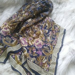 vintage georgiou silk scarf